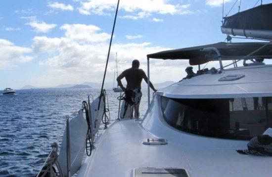 Gira en Catamarán de vela Playa Blanca Lanzarote